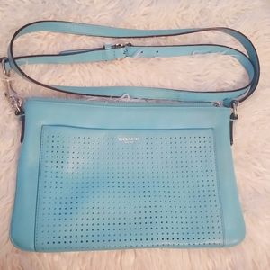 Tiffany blue Coach crossbody purse